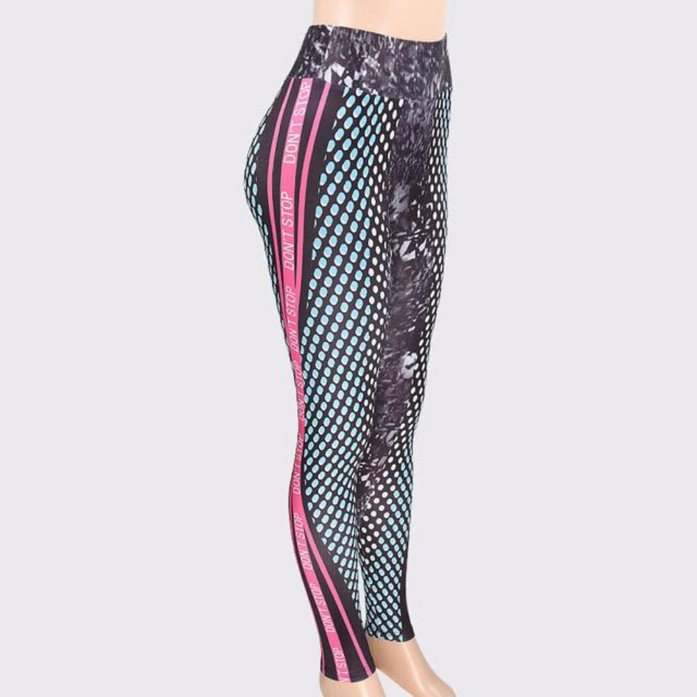Women'S Honeycomb Letter Print High Waist Leggings-Women - Apparel - Activewear - Leggings-Printed-S-Product Details: Women's Honeycomb Letter Print Skinny High Waist Elastic Fitness Leggings Item Type: Leggings Thickness: Standard Length: Ankle-Length Waist Type: High Material: Polyester, Spandex Pattern Type: 3D Fabric Type: Broadcloth Style: Casual Size Chart:-Keyomi-Sook