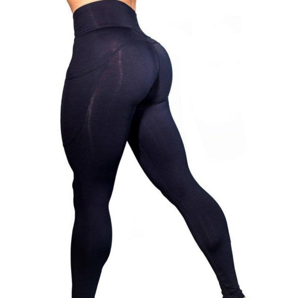 Women'S High Waist Phone Pocket Leggings-Women - Apparel - Activewear - Leggings-Product Details: Women's Elastic High Waist Phone Pocket Push Up Fitness Leggings Size Chart:-Keyomi-Sook