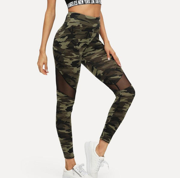 Ladies Camo Print Leggings-Athletic Wear-Product Details: Multicolor Mesh Insert Camo Print Leggings Sporting Patchwork Sheer Crop Pants Waist Type: Mid Fabric Type: Broadcloth Length: Ankle-Length Material: 90% Polyester, 10% Spandex Size Chart: Shoulder (cm) Hip Size (cm) Waist(cm) Length (cm) Thigh(cm) XS - 76 60/88 86 47.5 S - 80 64/92 87 49.5 M - 84 68/96 88 51.5 L - 88 72/ 100 89 53.5 XL - 92 76/104 90 55.5 XXL - - - - - One Size - - - - -Keyomi-Sook