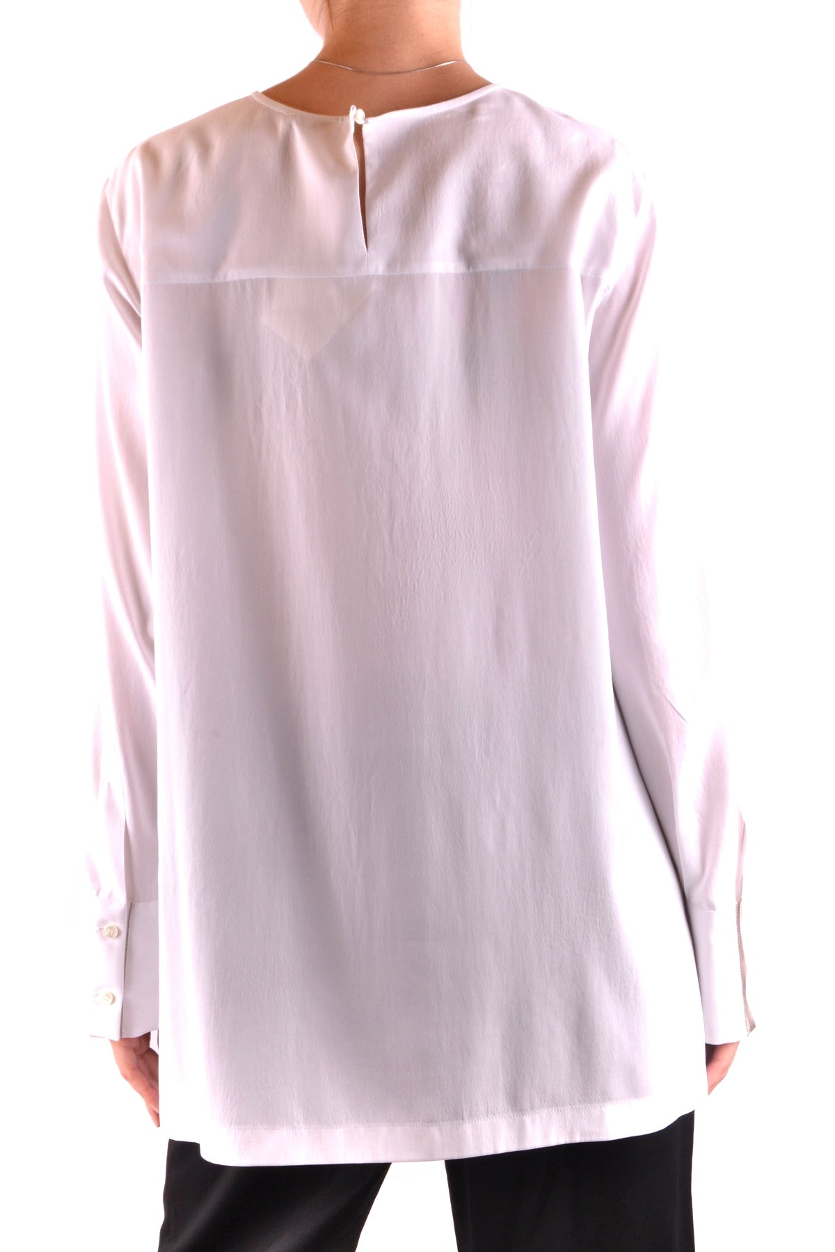 Shirt Brunello Cucinelli-Shirt - WOMAN-Product Details Terms: New With LabelYear: 2018Main Color: WhiteGender: WomanMade In: ItalyManufacturer Part Number: Mf948D4000Size: IntSeason: Spring / SummerClothing Type: CamiciaComposition: Elastane 8%, Silk 92%-Keyomi-Sook