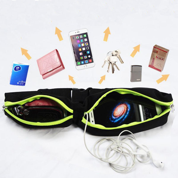 Anti-Theft Waterproof Running Waist Bag-Fanny My Bum-Product Detail: Sports Bag Running Waist Bag Pocket Jogging Portable Waterproof Cycling Bum Bag Outdoor Phone anti-theft Pack Belt Bags Application Position:Waist Material: Lycra Quantity: 1 bag Dimension: Length: 75 - 120 cm (can be adjusted)-Keyomi-Sook