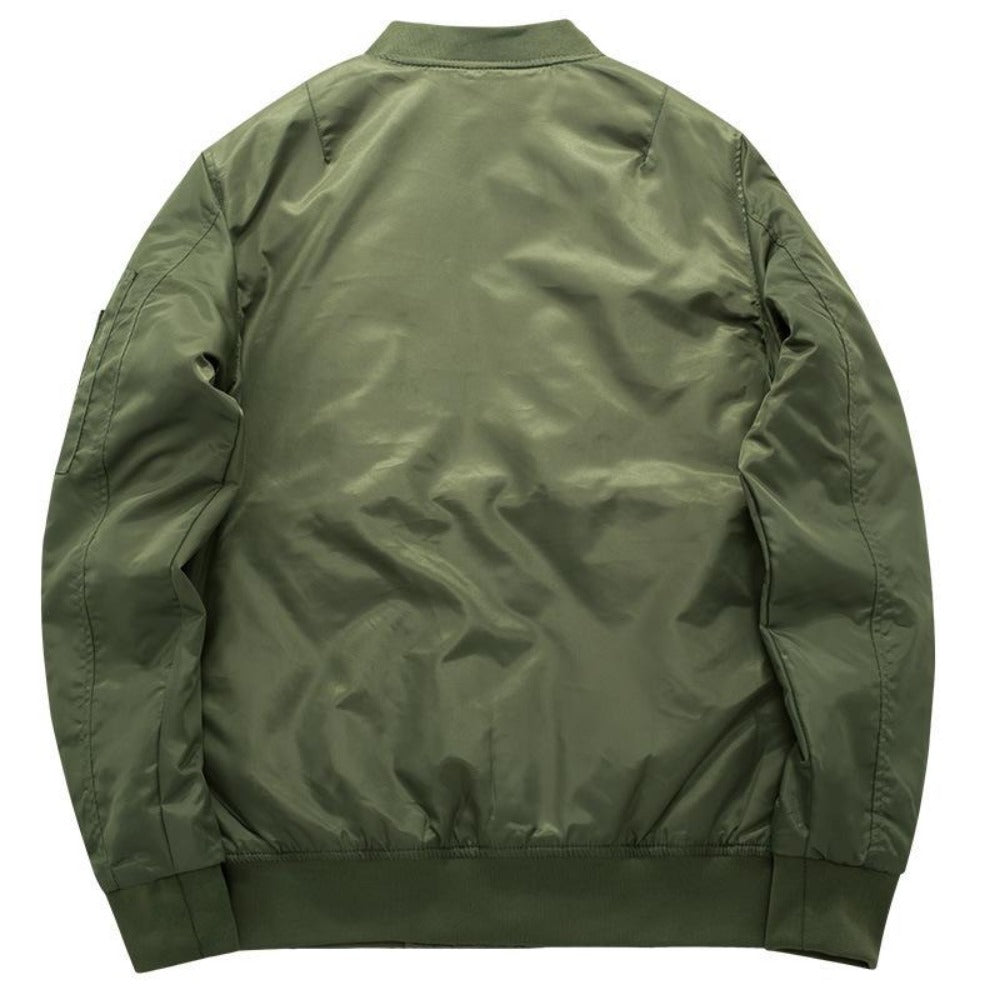Men's Thick and Thin Military Bomber Jacket-Men's Jackets-Product Details: Men's Thick and Thin Military Motorcycle Bomber Jacket Lining Material: Polyester Material: Polyester, Nylon Cuff Style: Conventional Collar: V-Neck Size Chart:-Keyomi-Sook