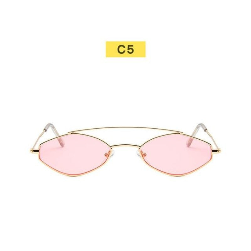 90's Oval Nose Resting Sunglasses-Ladies Sunglasses-C5-Pink Gold-Product Detail: 90s Sunglasses Women Retro Oval Sunglasses Lady Brand Designer Vintage Sunglasses Girls Eyeglasses UV400 Frame Material: Alloy Lenses Material: Acrylic Dimensions: Lens Height: 30 mm Lens Width: 52 mm-Keyomi-Sook