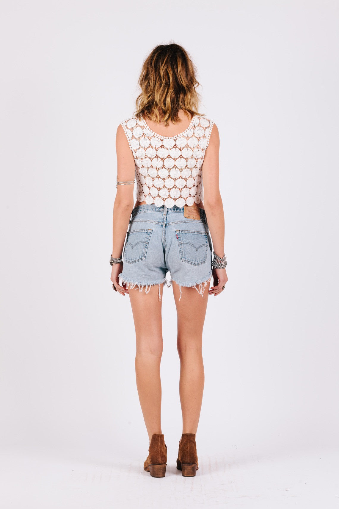Lazy Daisy Crop Top-Women - Apparel - Shirts - Blouses-XS-Keyomi-Sook