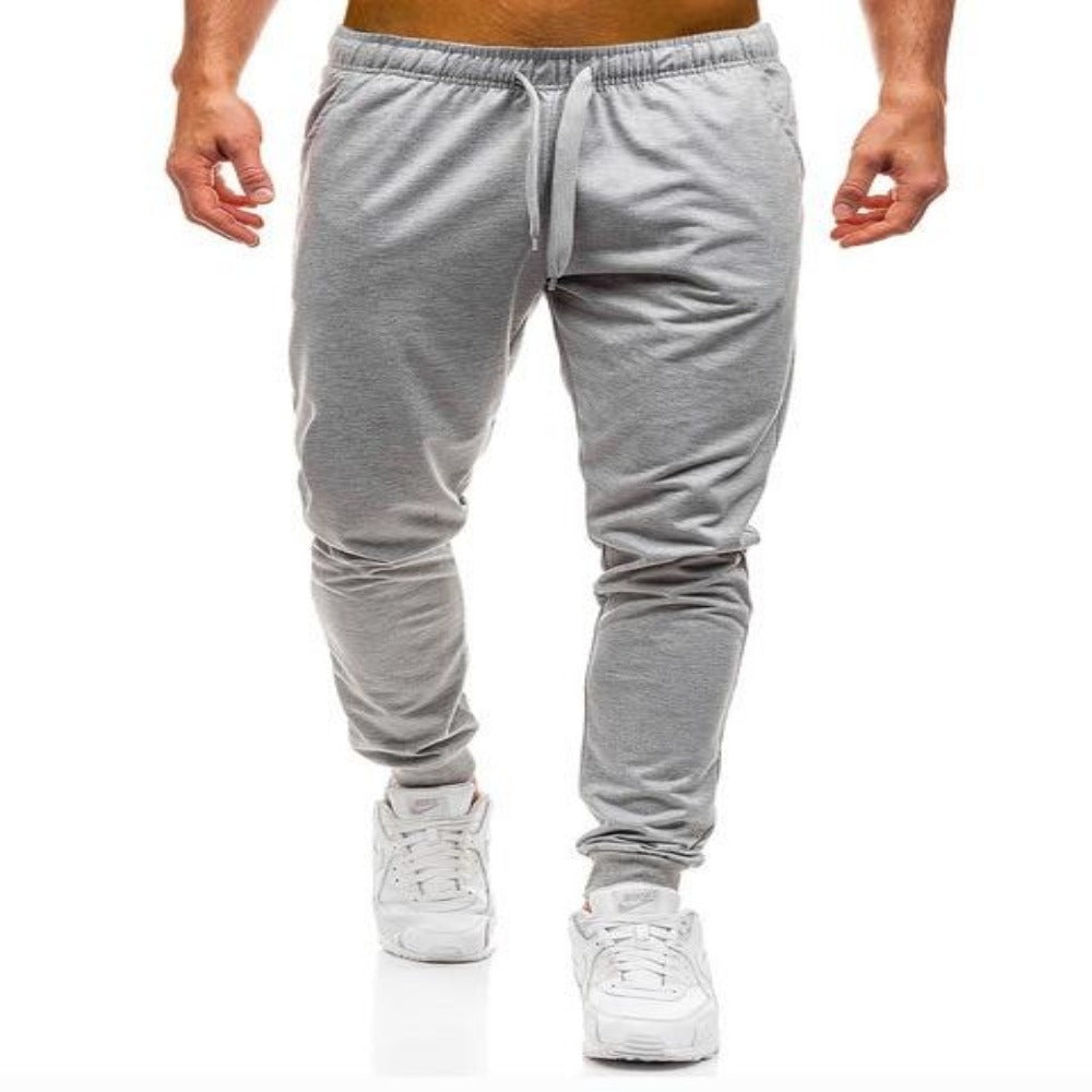 Men'S Elastic Waist Workout Sweatpants-Mens Pants and Shorts-Light Grey Joggers-M-Product Details: Men's Elastic Waist Solid Color Casual Workout Sweatpants Item Type: Full Length Pant Style: Sweatpants Style: High Street Fit Type: Regular Material: Cotton, Polyester Waist Type: Mid Length: Full Length Thickness: Midweight Front Style: Flat Fabric Type: Broadcloth Closure Type: Elastic Waist Size Chart:-Keyomi-Sook