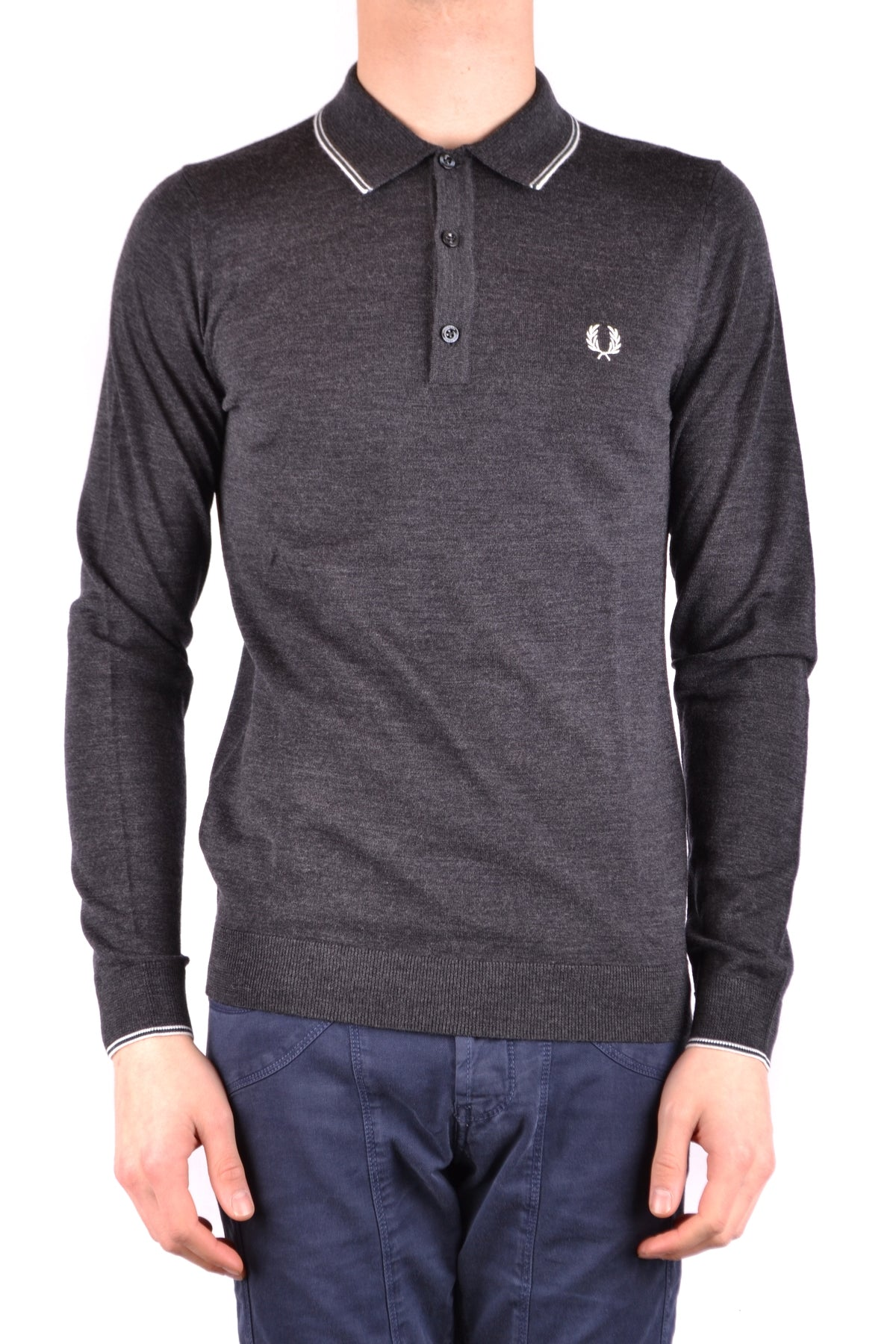 Polo Fred Perry-Polos - MAN-S-Product Details Terms: New With LabelYear: 2017Main Color: GraySeason: Fall / WinterMade In: ChinaSize: IntGender: ManClothing Type: PoleComposition: Merino Wool 100%-Keyomi-Sook