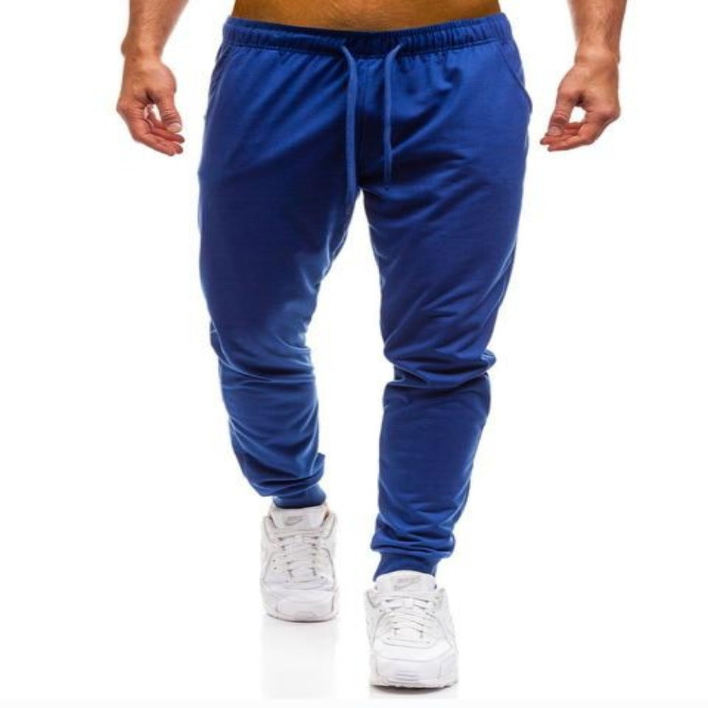 Men'S Elastic Waist Workout Sweatpants-Mens Pants and Shorts-Royal Blue Joggers-M-Product Details: Men's Elastic Waist Solid Color Casual Workout Sweatpants Item Type: Full Length Pant Style: Sweatpants Style: High Street Fit Type: Regular Material: Cotton, Polyester Waist Type: Mid Length: Full Length Thickness: Midweight Front Style: Flat Fabric Type: Broadcloth Closure Type: Elastic Waist Size Chart:-Keyomi-Sook