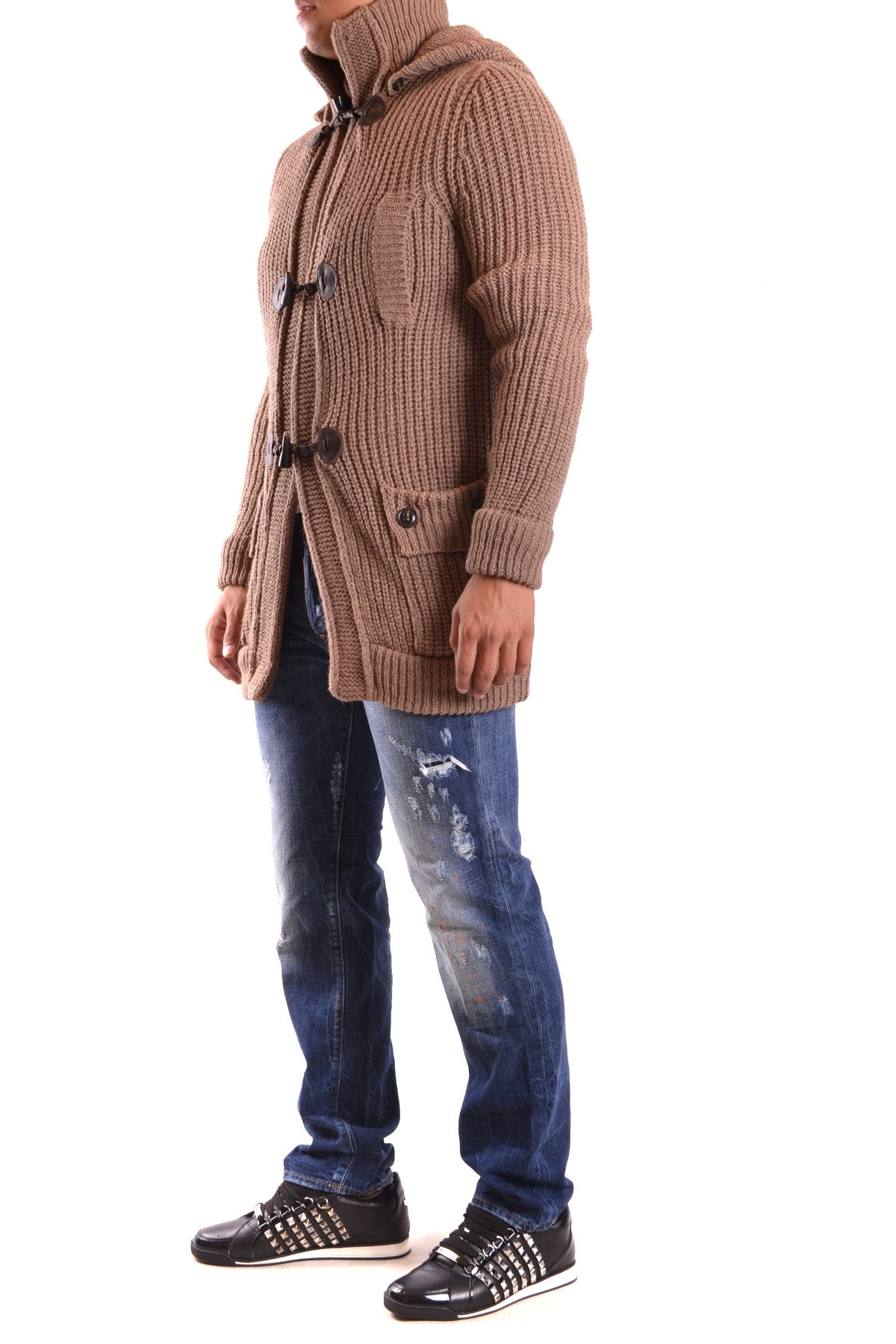 Cardigan Dsquared-Cardigan - MAN-Product Details Terms: New With LabelMain Color: Light BrownSeason: Fall / WinterSize: IntYear: 2017Clothing Type: Sweater And CardiganComposition: Acrylic 35%, Alpaca 30%, Wool 35%-Keyomi-Sook