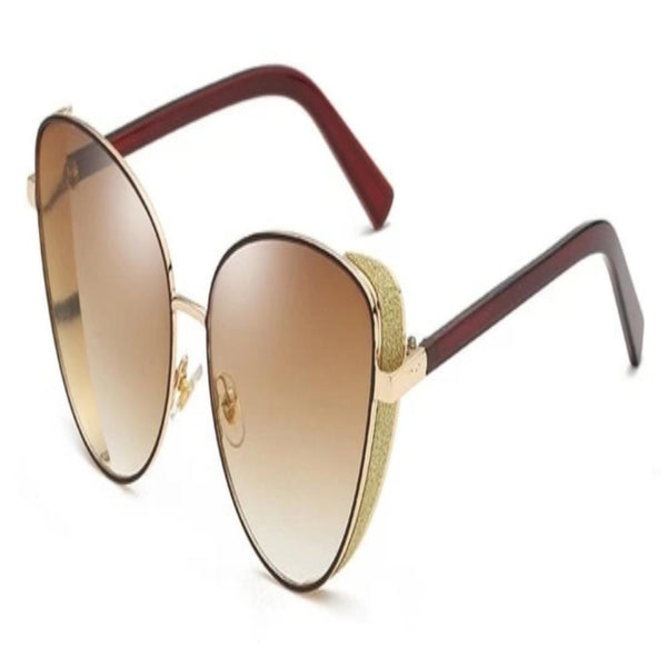 Women's Triangle Cat Eye Sunglasses-Ladies Sunglasses-Tea Gold-Product Details: Women's Triangle Cat Eye Rhinestone UV Protect Vintage Sunglasses Style: Cat Eye Lenses Optical Attribute: UV400, Photochromic Frame Material: Alloy Lenses Material: Polycarbonate Eyewear Type: Sunglasses Item Type: Eyewear Dimensions: Lens Width: 60 mm Lens Height: 62 mm-Keyomi-Sook