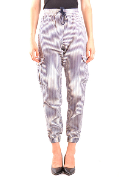 Trousers Emporio Armani-Trousers - WOMAN-38-Product Details Season: Spring / SummerTerms: New With LabelMain Color: BlueGender: WomanMade In: RomaniaManufacturer Part Number: 3Z2P66 2N38ZSize: ItYear: 2018Clothing Type: TrousersComposition: Cotton 100%-Keyomi-Sook