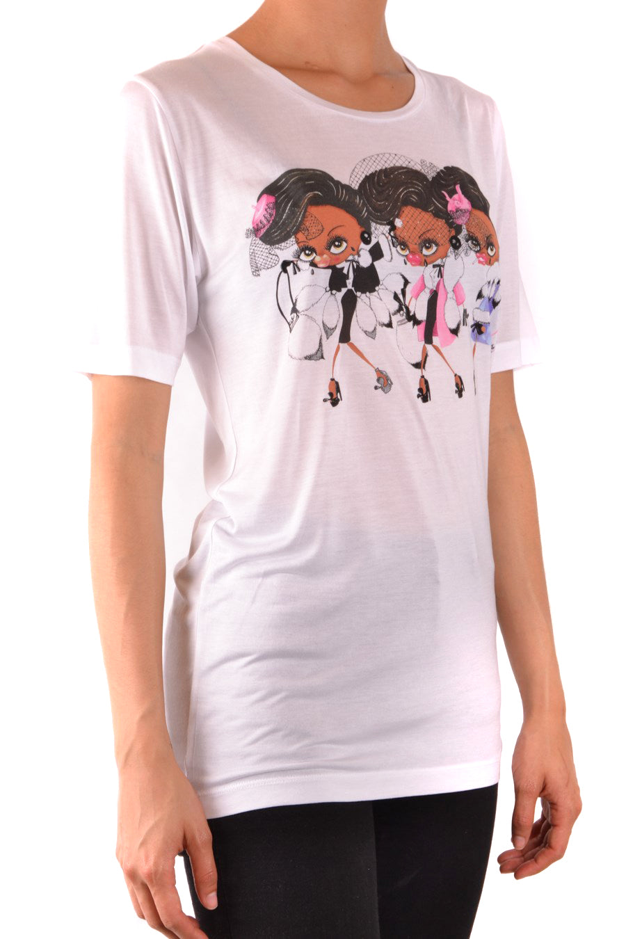 Tshirt Short Sleeves Dsquared-Tshirt Short Sleeves - WOMAN-Product Details Terms: New With LabelYear: 2018Main Color: WhiteGender: WomanMade In: ItalyManufacturer Part Number: S22040 S72Gc0772Size: IntSeason: Spring / SummerClothing Type: T-ShirtComposition: Modal 100%-Keyomi-Sook