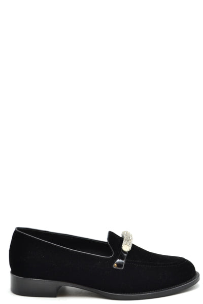 Shoes Giuseppe Zanotti-root - Women - Shoes - Flats-Product Details Terms: New With LabelMain Color: BlackType Of Accessory: ShoesSeason: Fall / WinterMade In: ItalyGender: WomanSize: EuComposition: Chamois 100%Year: 2018Manufacturer Part Number: I860031-Keyomi-Sook