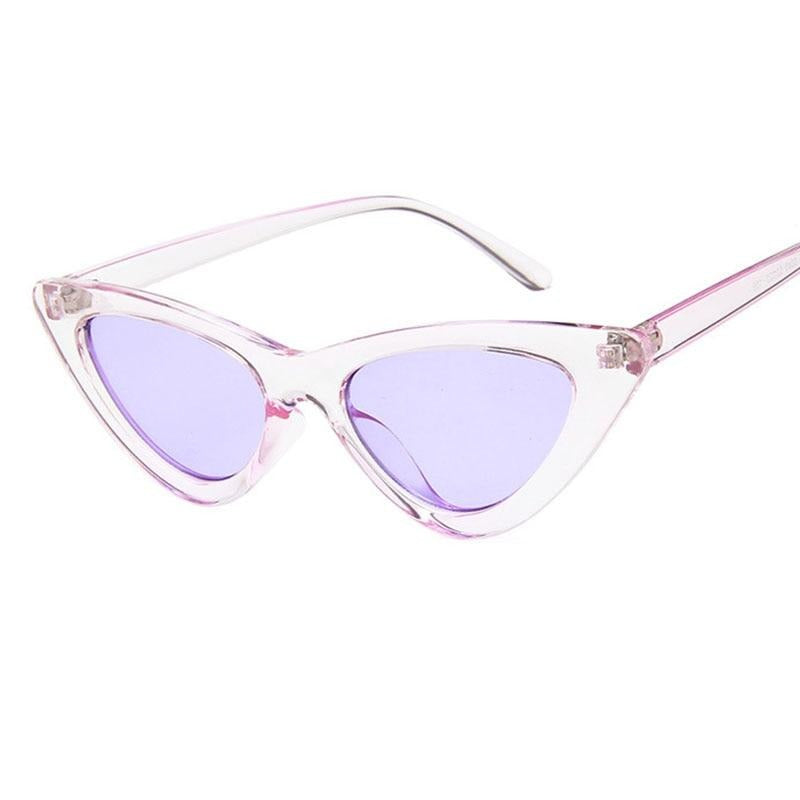 Retro Cat Eye Sunglasses-Ladies Sunglasses-Product Detail: cat eye shade for women fashion sunglasses brand woman vintage retro triangular cat-eye glasses sunglasses Sexy Frame Material: Poly-carbonate Style: Cat Eye Lenses Optical Attribute: UV400, Photo chromic Dimensions: Lens Width: 52 mm Lens Height: 45 mm-Keyomi-Sook