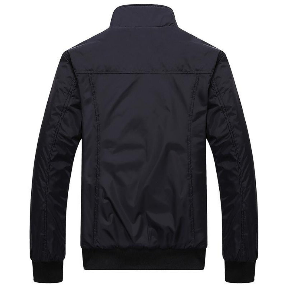 Men's Stand Collar Slim Jacket-Men's Jackets-Product Details: Men's Stand Collar Slim Casual Bomber Jackets Collar: Stand Lining Material: Polyester Material: Polyester Cuff Style: Conventional Decoration: Pockets Closure Type: Zipper Size Chart:-Keyomi-Sook