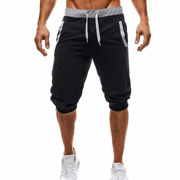 Men's Sports Fitness Bodybuilding Sweatpants-Men's Athletic Wear-black-M-Product Details: Men's Profession Sports Fitness Bodybuilding Sweatpants Material: Polyester Size Chart:-Keyomi-Sook