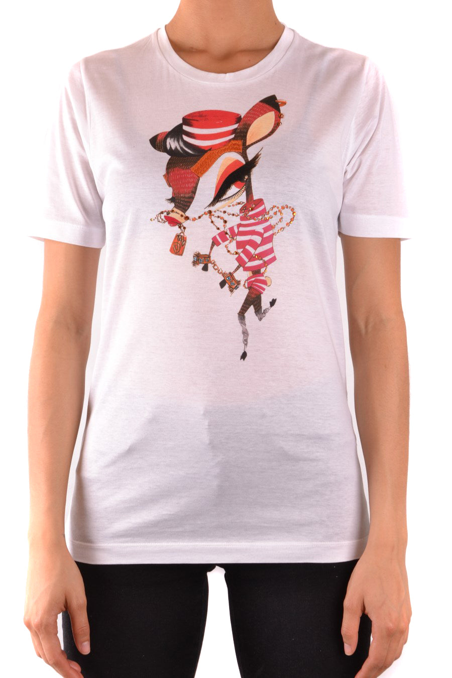Tshirt Short Sleeves Dsquared-Tshirt Short Sleeves - WOMAN-Product Details Terms: New With LabelYear: 2018Main Color: WhiteGender: WomanMade In: ItalyManufacturer Part Number: S22362 S75Gc0682Size: IntSeason: Spring / SummerClothing Type: T-ShirtComposition: Cotton 100%-Keyomi-Sook