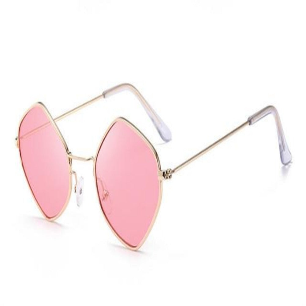 Men & Women's Clear Polygon Sunglasses-Ladies Sunglasses-C2-Pink-Product Details: Men & Women's Clear Polygon Vintage Sunglasses Lenses Optical Attribute: Mirror, UV400, Anti-Reflective Frame Material: Alloy Lenses Material: Polycarbonate Dimensions: Lens Width: 53 mm Lens Height: 46 mm-Keyomi-Sook