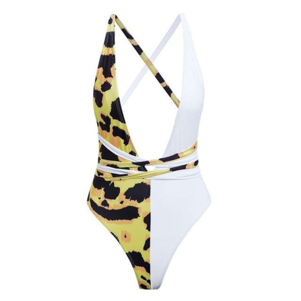 Women'S Spice Buckle Push Up One Piece Swimsuit-Ladies Swimwear-452-1-S-Product Details: Women's Spice Buckle High Cut Push Up One Piece Swimsuit Item Type: One Pieces Sport Type: Swim Material: Polyester, Lycra Pattern Type: Print With Pad: Yes/padded Bra Bikini Feature: Hollow Out Size Chart:-Keyomi-Sook