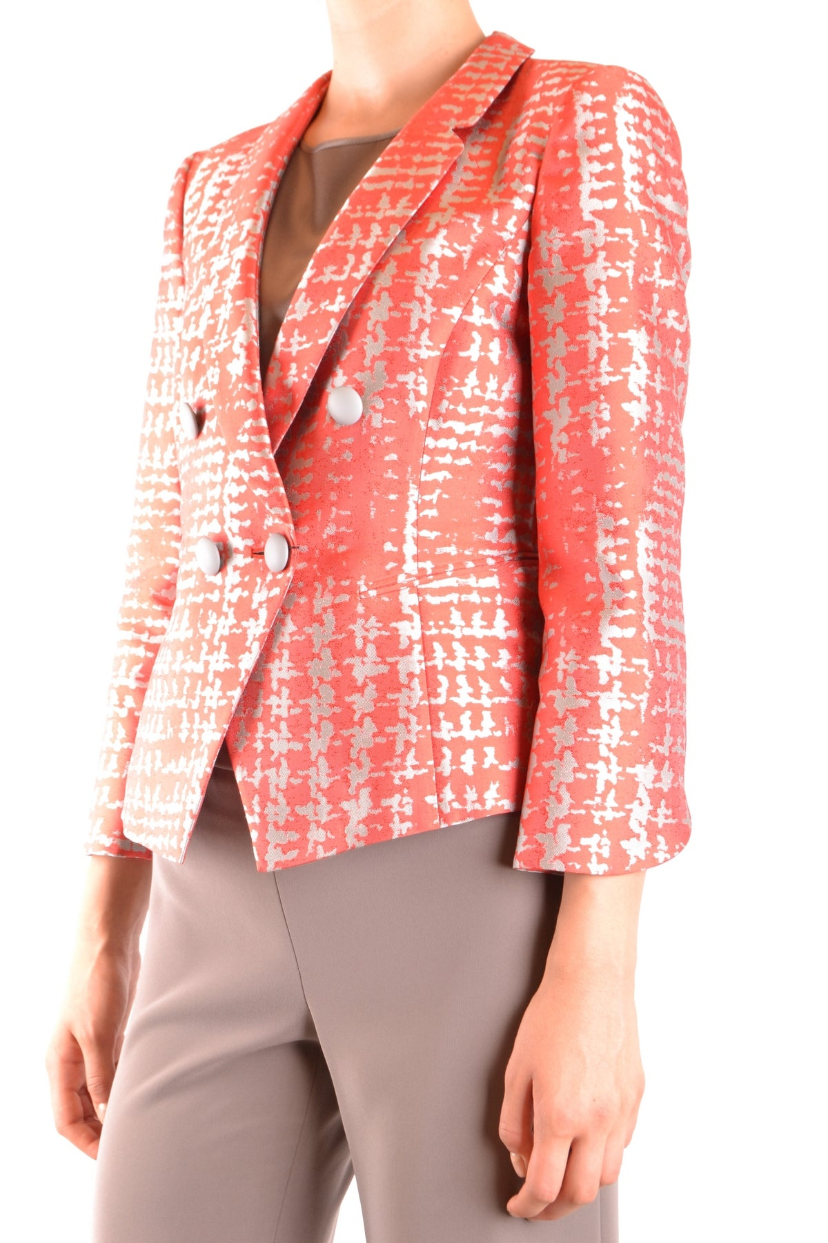 Jacket Armani Collezioni-Jacket - WOMAN-Product Details Season: Spring / SummerTerms: New With LabelMain Color: CoralGender: WomanMade In: ItalyManufacturer Part Number: Vmg32T Vm103Size: ItYear: 2018Clothing Type: JacketComposition: Polyester 70%, Silk 30%-Keyomi-Sook