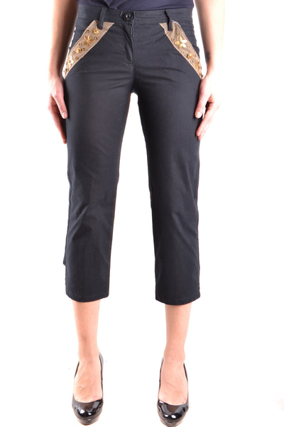 Trousers Moschino Jeans-Trousers - WOMAN-42-Product Details Terms: New With LabelYear: 2017Main Color: BlackGender: WomanMade In: RomaniaSize: ItSeason: Spring / SummerClothing Type: TrousersComposition: Cotton 98%, Elastane 2%-Keyomi-Sook