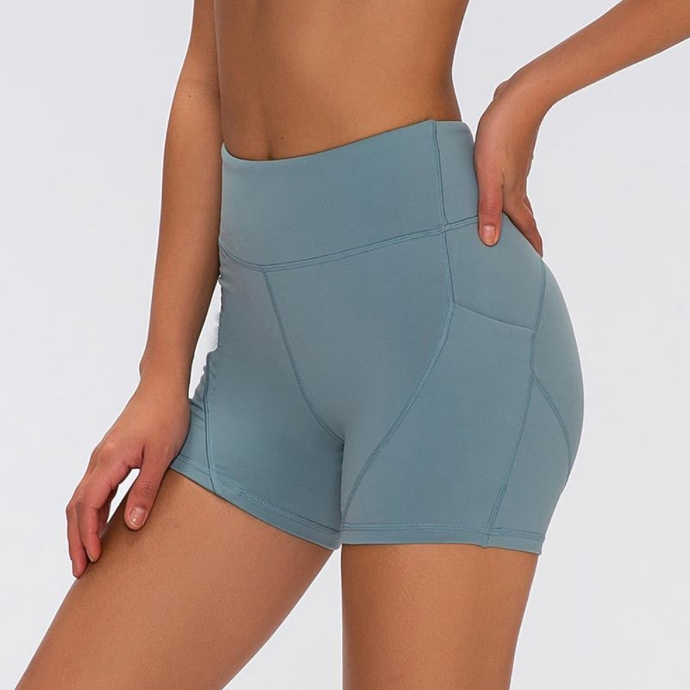 Women's Soft Cotton Anti-sweat Shorts-Athletic Wear-Product Details: Women's Soft Cotton High Waist Plain Anti-sweat Fitness Shorts Size Chart:-Keyomi-Sook