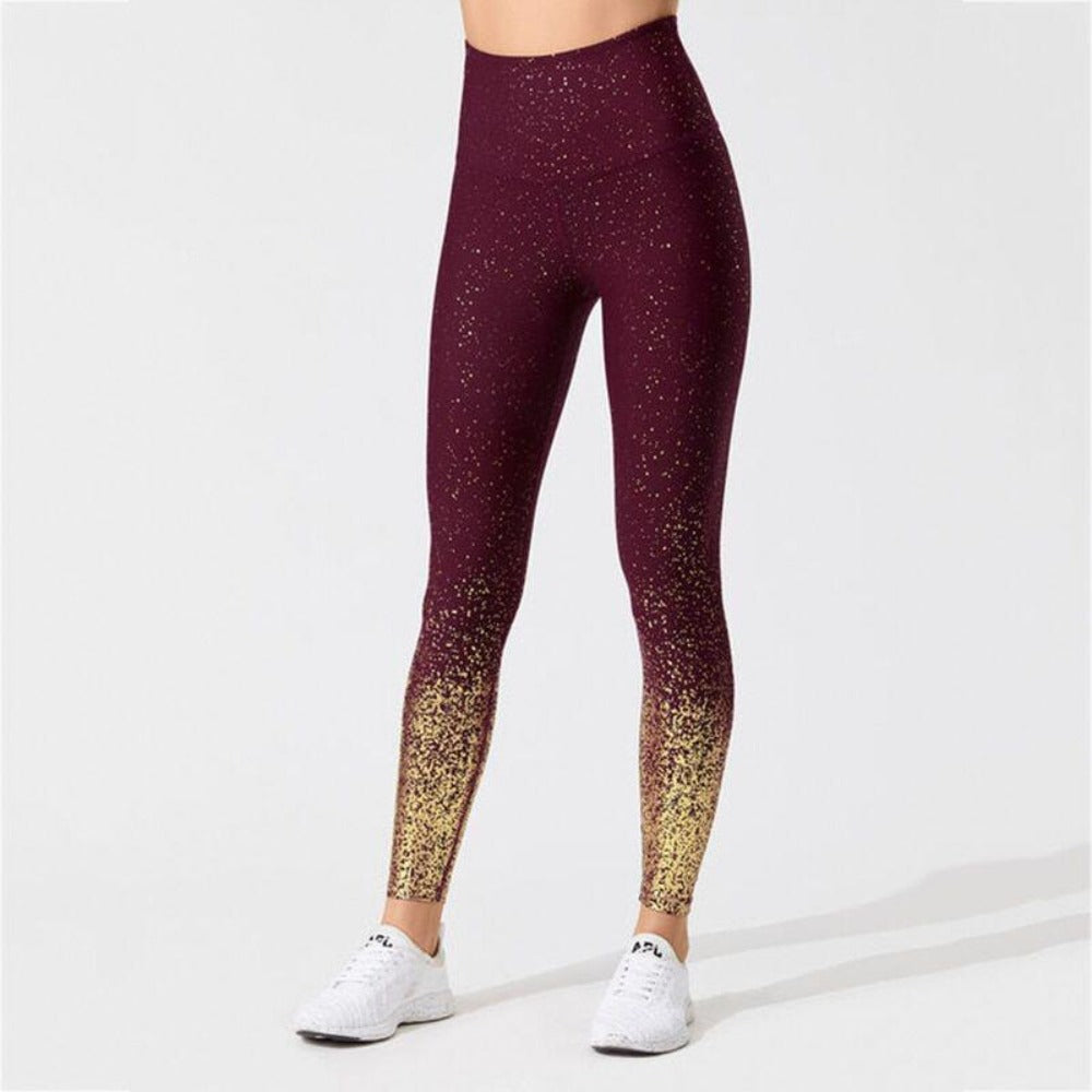 Women'S Knitted Ankle-Length High Waist Leggings-Women - Apparel - Activewear - Leggings-S-Red-Product Details: Women's Knitted Ankle-Length High Waist Fitness Leggings Item Type: Leggings Material: Polyester, Spandex Pattern Type: Dot Waist Type: High Fabric Type: Knitted Length: Ankle-Length Thickness: Standard Style: Casual Size Chart:-Keyomi-Sook
