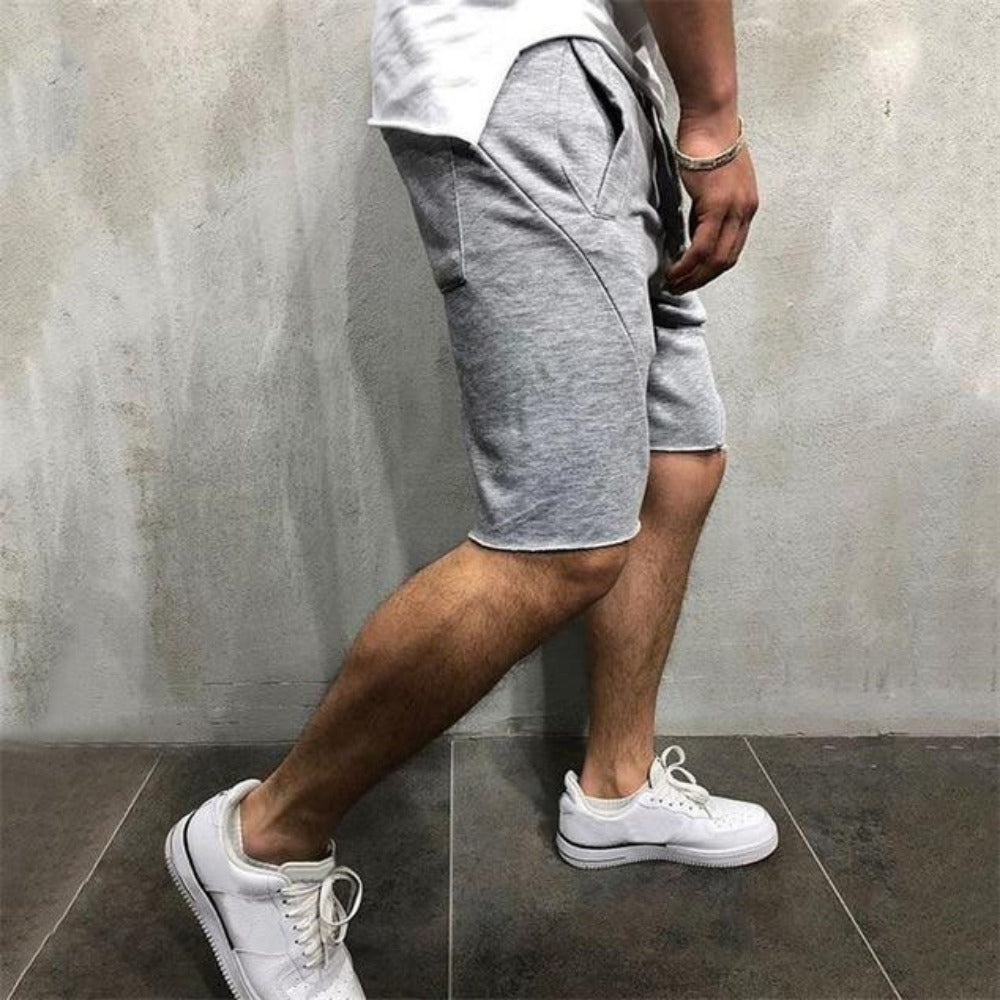 Men's Casual Fitness Jogging Short Pants-Men's Athletic Wear-light grey-S-Product Details: Men's Quick Drying Casual Fitness Jogging Short Pants Length: Shorts Material: Cotton, Polyester Closure Type: Elastic Waist Waist Type: Mid Decoration: Appliques Size Chart:-Keyomi-Sook