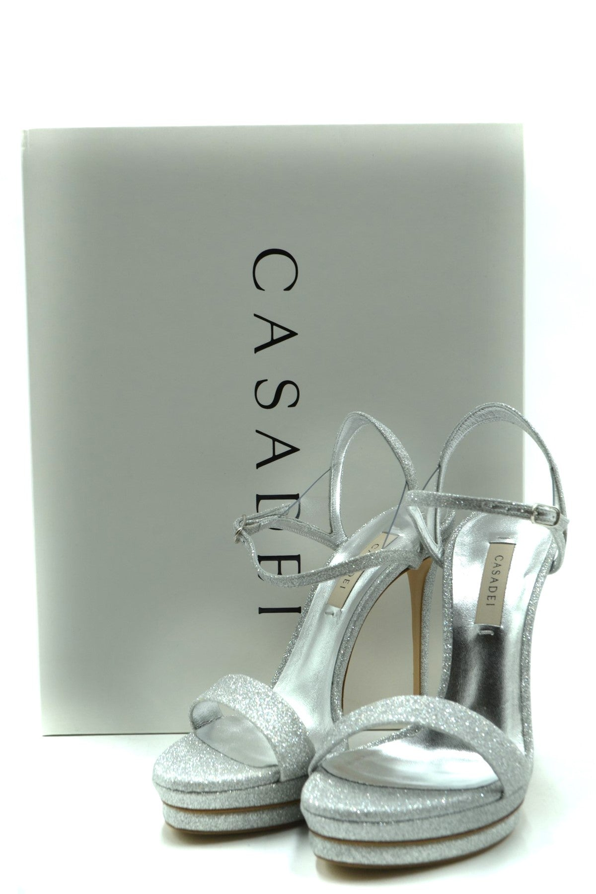 Shoes Casadei-Women's Fashion - Women's Shoes - Women's Sandals-Product Details Terms: New With LabelMain Color: SilverType Of Accessory: ShoesSeason: Spring / SummerMade In: ItalyGender: WomanHeel'S Height: 12 CmSize: EuComposition: Leather 100%Year: 2020Manufacturer Part Number: 1L554P1201T00849700-Keyomi-Sook