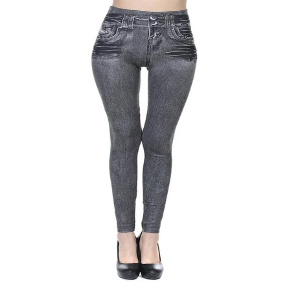 Women's Faux Denim Pocket Pencil Jeans-Ladies Jeans-Thin Grey-S-Product Details: Women's Faux Denim Pocket Casual Pencil Plus Size Jeans Length: Ankle-Length Waist Type: Mid Item Type: Leggings Style: Casual Material: Polyester, Spandex Fabric Type: Broadcloth Size Chart:-Keyomi-Sook