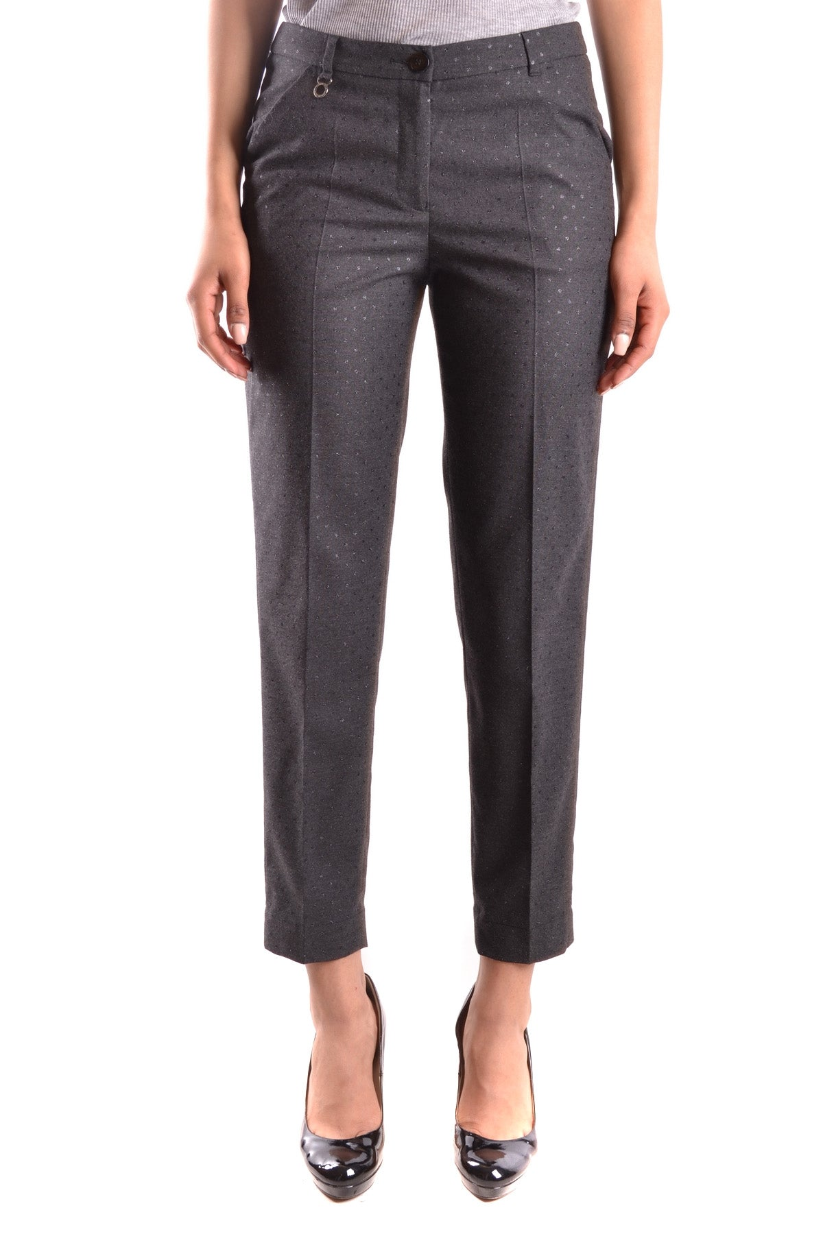 Trousers Armani Jeans-Trousers - WOMAN-38-Product Details Terms: New With LabelYear: 2017Main Color: GrayGender: WomanMade In: RomaniaSize: ItSeason: Fall / WinterClothing Type: TrousersComposition: Elastane 3%, Polyester 63%, Viscose 34%-Keyomi-Sook