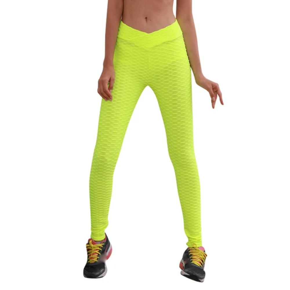 Women'S High Waist Leggings-Women - Apparel - Activewear - Leggings-Yellow-S-Product Details: Women's High Waist Stretch Fitness Leggings Occasion: Daily, Casual Material: Polyester Pattern Type: Solid Waist Type: High Pant Style: Long Pants Size Chart:-Keyomi-Sook
