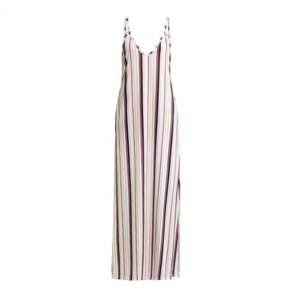 Women'S Tie Dyeing Boho Knitted Maxi Dress-Women - Apparel - Dresses - Maxi-Product Details: Women's Tie Dyeing Boho Print Soft Knitted Maxi Dress Material: Polyester, Spandex, Cotton Style: Beach Style Silhouette: Straight Pattern Type: Striped Sleeve Length (cm): Sleeveless Dresses Length: Floor-Length Sleeve Style: Spaghetti Strap Waistline: Natural Neckline: V-Neck Season: Summer Size Chart:-Keyomi-Sook