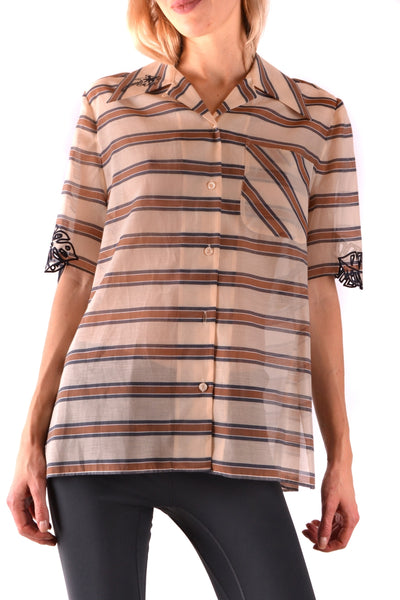 Shirt Fendi-Shirt - WOMAN-40-Product Details Season: Spring / SummerTerms: New With LabelMain Color: MulticolorGender: WomanMade In: ItalyManufacturer Part Number: Fs6989 A3Bd F12Ce Pr12 201704904ASize: ItYear: 2018Clothing Type: CamiciaComposition: Cotton 79%, Silk 21%-Keyomi-Sook