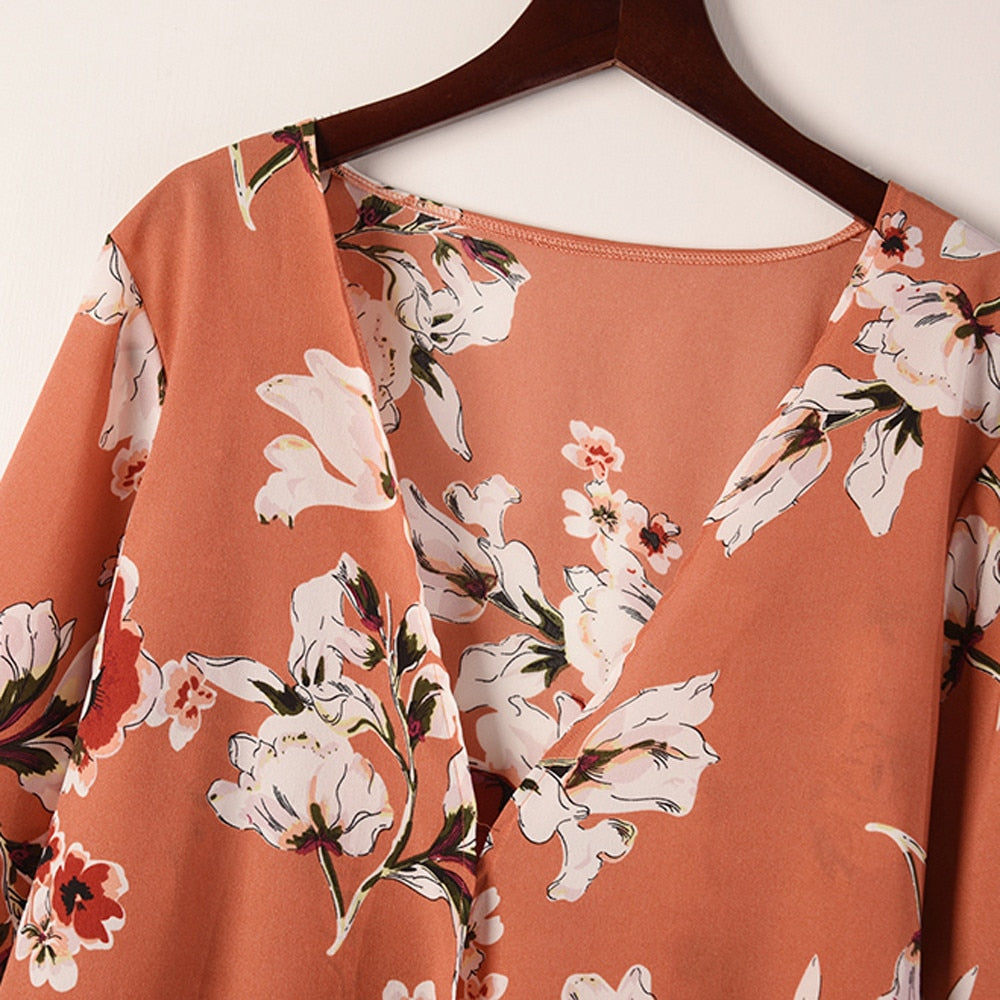 "Floral Print Cardigan-Kimono-Product Details: Women Casual Floral Print Kimono Cardigan Long Shirt For Women Autumn Long Sleeve Shirt Blusa Feminina Material: Polyester Clothing Length: Long Fabric Type: Broadcloth Collar: V-Neck Sleeve Style: Flare Sleeve Size Chart: Size Bust Sleeve Length Shoulder Length S 100cm/39.4'' 57CM/22.4"" 38cm/15.0'' 83cm/32.7'' M 104cm/40.9'' 58CM/22.8'' 39cm/15.4'' 84cm/33.1'' L 104cm/40.9'' 59CM/23.2'' 40cm/15.7'' 85cm/33.5'' XL 112cm/44.1'' 60CM/23.6'' 41cm/16.1''"