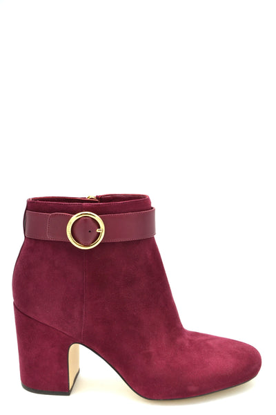 Shoes Michael Kors-root - Women - Shoes - Booties-35-Product Details Terms: New With LabelMain Color: BurgundyType Of Accessory: BootsSeason: Fall / WinterMade In: ChinaGender: WomanHeel'S Height: 9Size: EuComposition: Chamois 100%Year: 2018Manufacturer Part Number: 40T8Anhe5S-Keyomi-Sook
