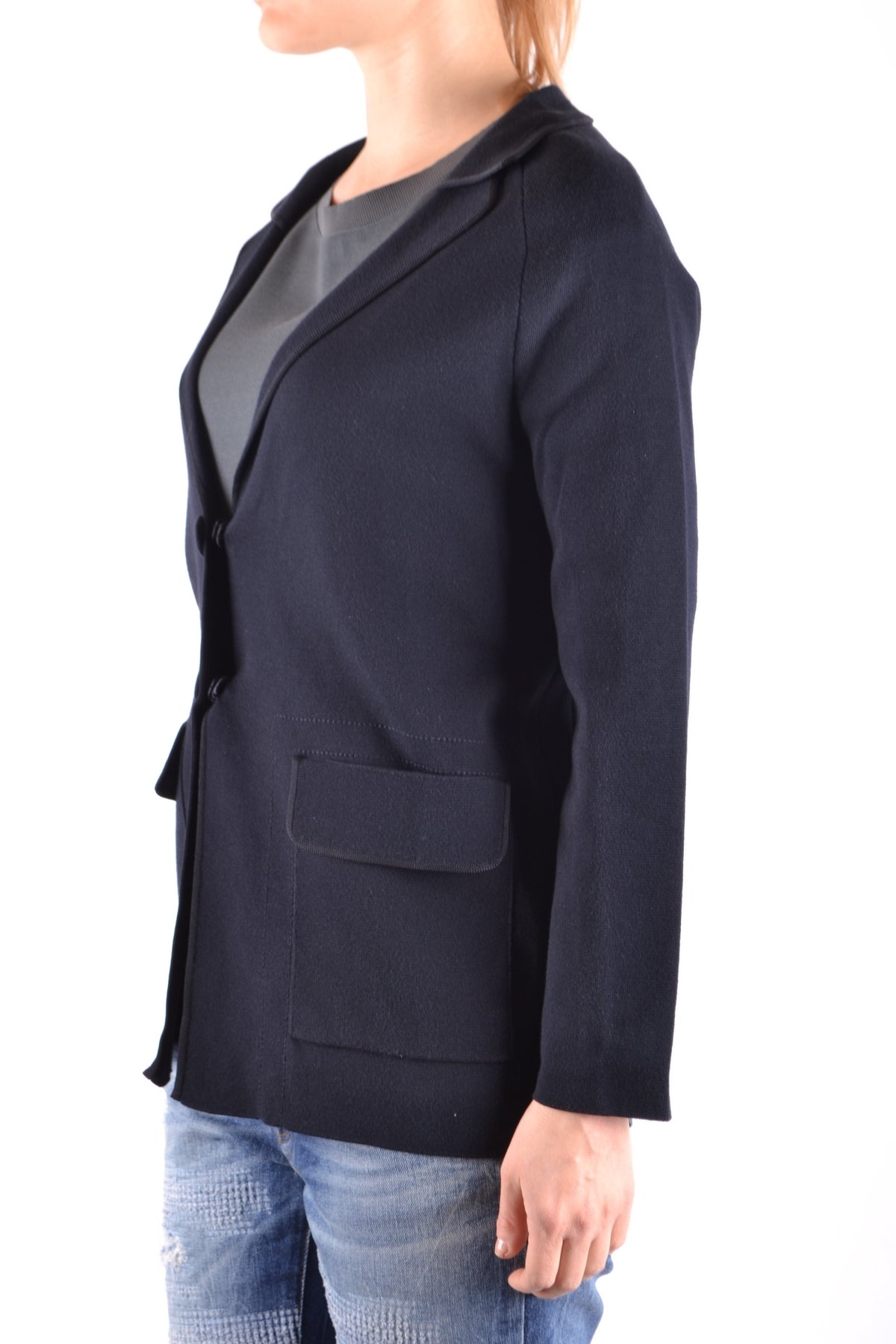 Jacket Armani Collezioni-Jacket - WOMAN-Product Details Terms: New With LabelYear: 2017Main Color: BlueGender: WomanMade In: MoldaviaSize: ItSeason: Spring / SummerClothing Type: JacketComposition: Cotton 60%, Viscose 40%-Keyomi-Sook