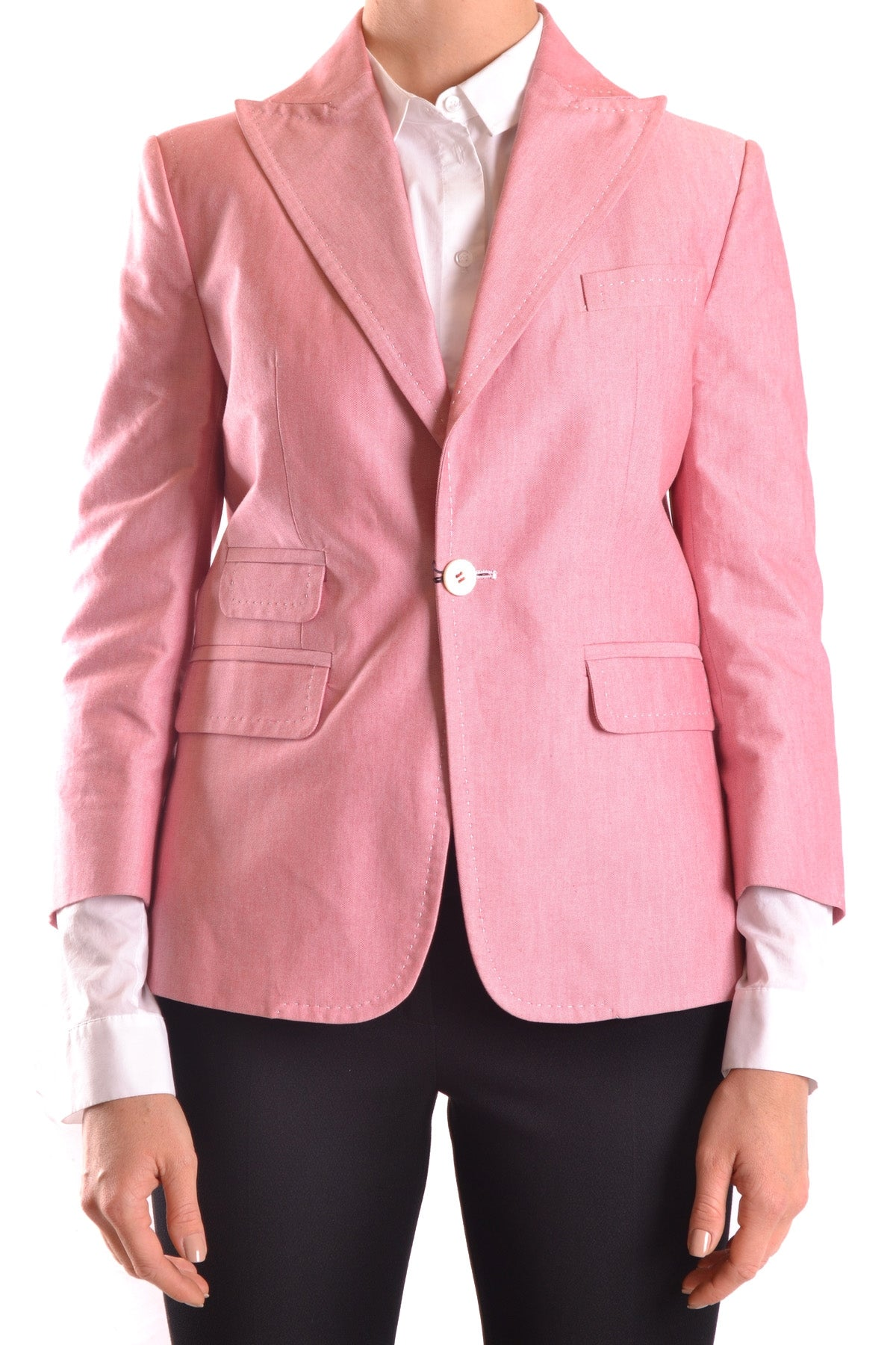 Jacket Dsquared-Jacket - WOMAN-Product Details Terms: New With LabelYear: 2017Main Color: PinkSeason: Spring / SummerMade In: ItalySize: ItGender: WomanClothing Type: JacketComposition: Cotton 100%-Keyomi-Sook