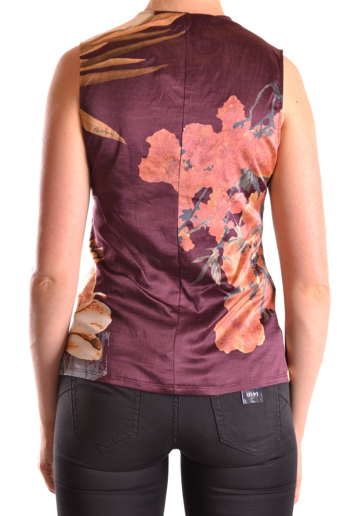 Tshirt No Sleeves Class Cavalli-No sleeves - WOMAN-Product Details Terms: New With LabelYear: 2017Main Color: BurgundyGender: WomanMade In: ItalySize: ItSeason: Spring / SummerClothing Type: T-ShirtComposition: Cotton 58%, Elastane 7%, Silk 35%-Keyomi-Sook