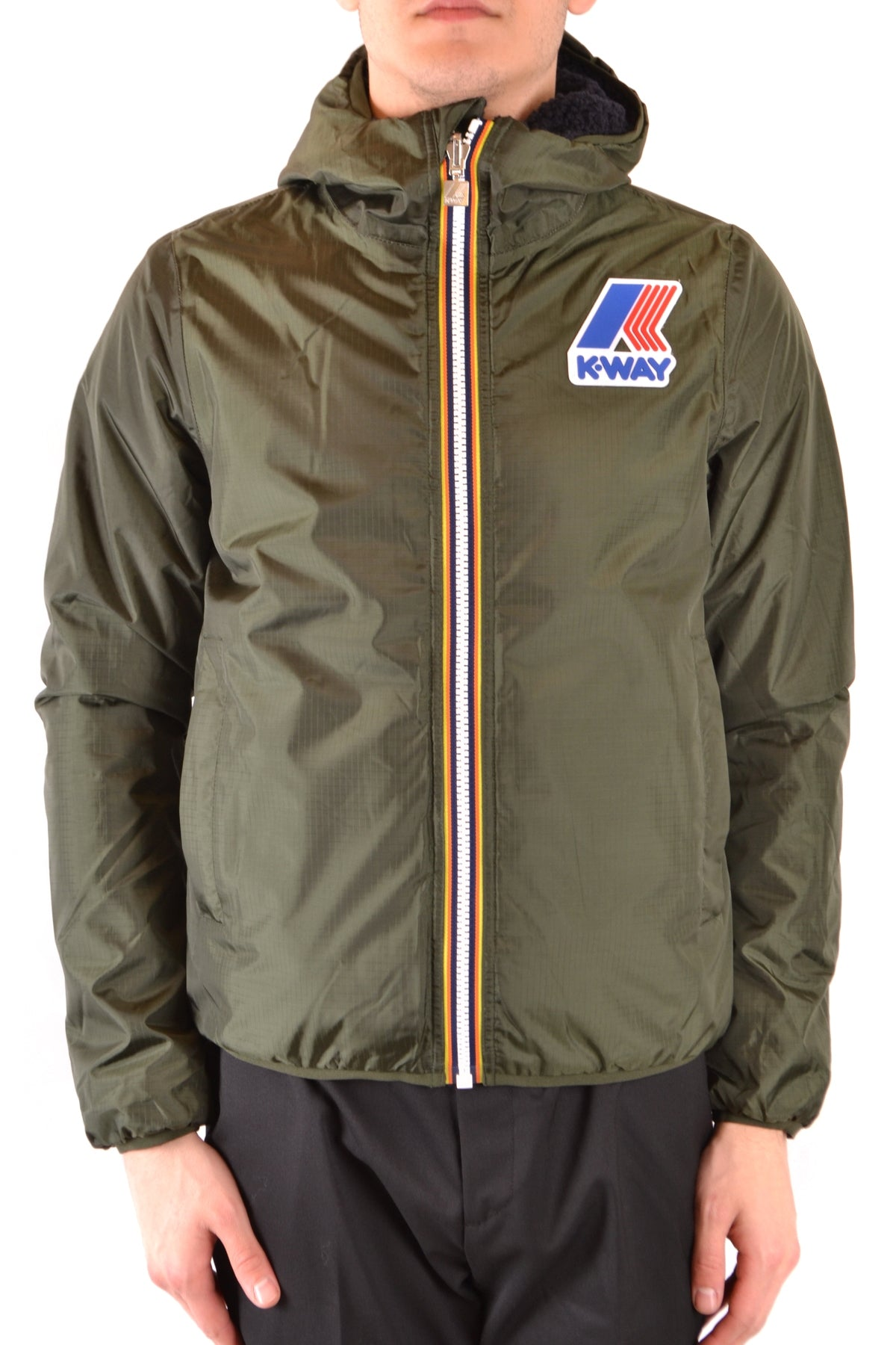 Jacket K-Way-Men's Fashion - Men's Clothing - Jackets & Coats - Jackets-S-Product Details Manufacturer Part Number: K009M90Year: 2018Composition: Polyamide 100%Size: IntGender: ManMade In: ChinaSeason: Fall / WinterMain Color: Military GreenClothing Type: BlousonTerms: New With Label-Keyomi-Sook
