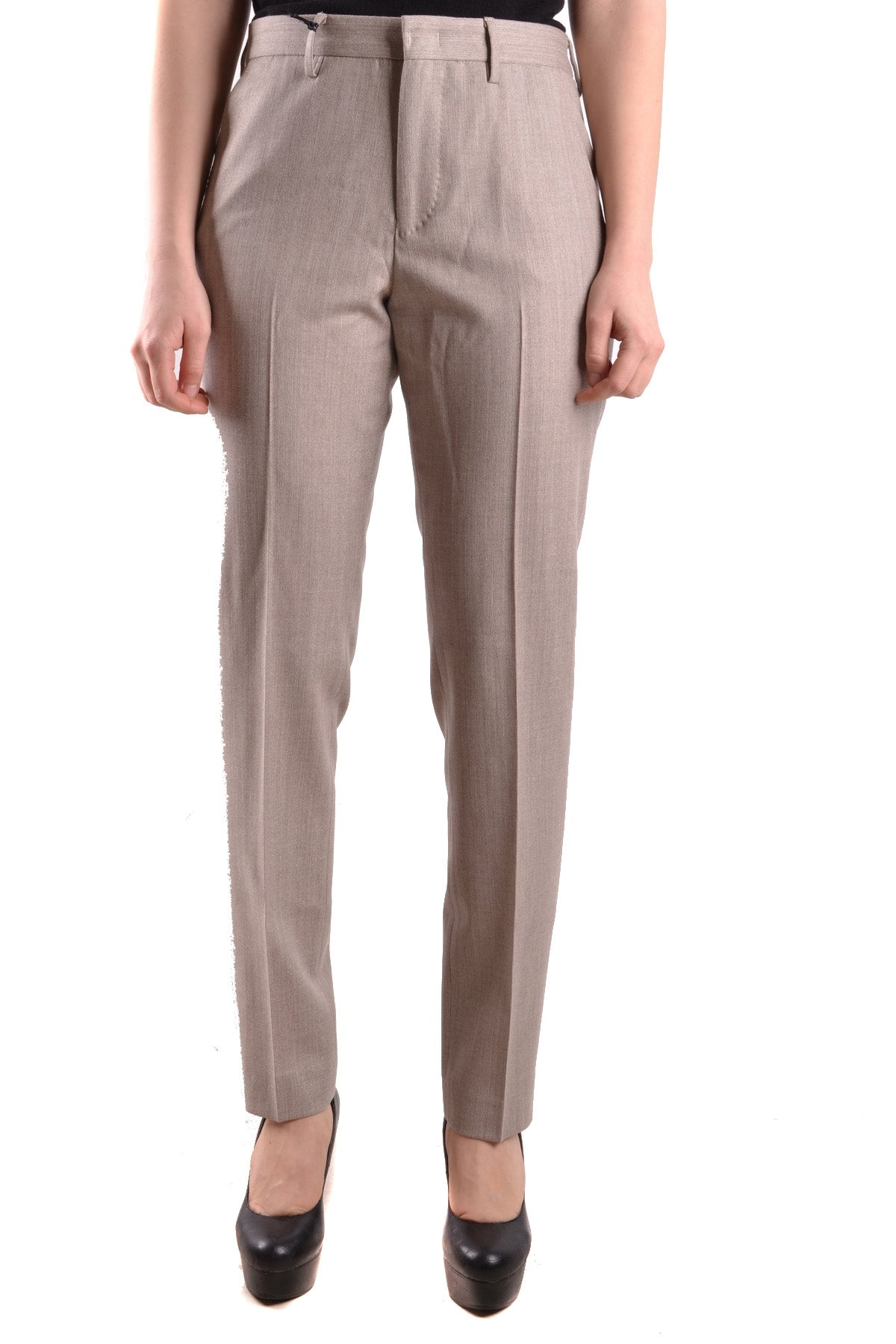 Trousers Pt01/Pt05-Trousers - WOMAN-40-Product Details Terms: New With LabelYear: 2017Main Color: BeigeSeason: Fall / WinterMade In: ItalySize: ItGender: WomanComposition: Elastane 5%, Wool 84%, Polyester 3%, Viscose 8%-Keyomi-Sook