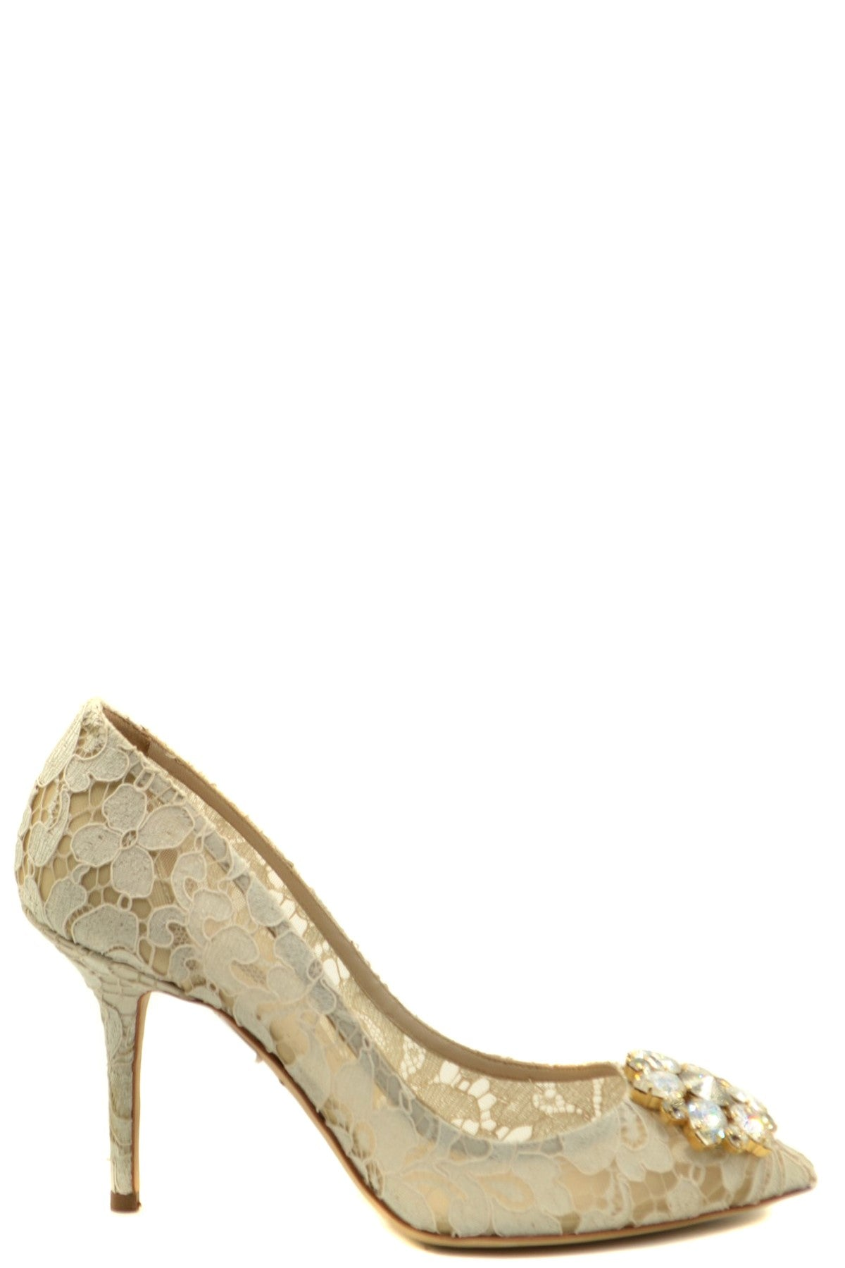 Shoes Dolce & Gabbana--Product Details Terms: New With LabelMain Color: CreamType Of Accessory: ShoesSeason: Spring / SummerMade In: ItalyGender: WomanHeel'S Height: 10Size: EuComposition: Tissue 100%Year: 2020Manufacturer Part Number: Cd0101 Al198 80005-Keyomi-Sook