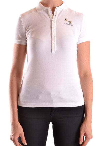 Polo Dsquared-Polos - WOMAN-Product Details Terms: New With LabelYear: 2017Main Color: WhiteGender: WomanMade In: ItalySize: IntSeason: Spring / SummerClothing Type: PoleComposition: Cotton 100%-Keyomi-Sook