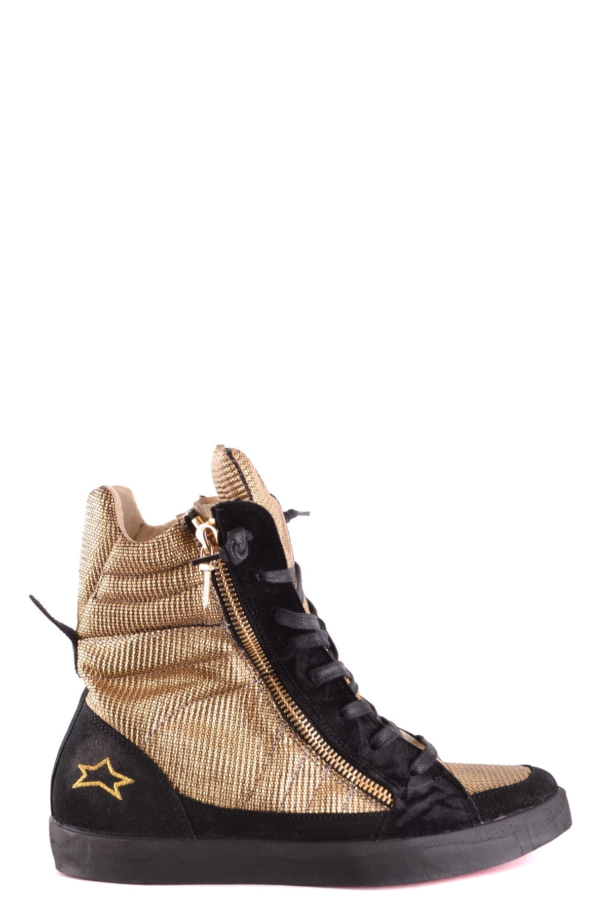 Shoes Ishikawa-Sports & Entertainment - Sneakers-38-black-Product Details Year: 2017Composition: Chamois 40%, Leather 60%Size: EuMade In: ItalySeason: Spring / SummerType Of Accessory: ShoesMain Color: GoldTerms: New With LabelGender: Woman-Keyomi-Sook
