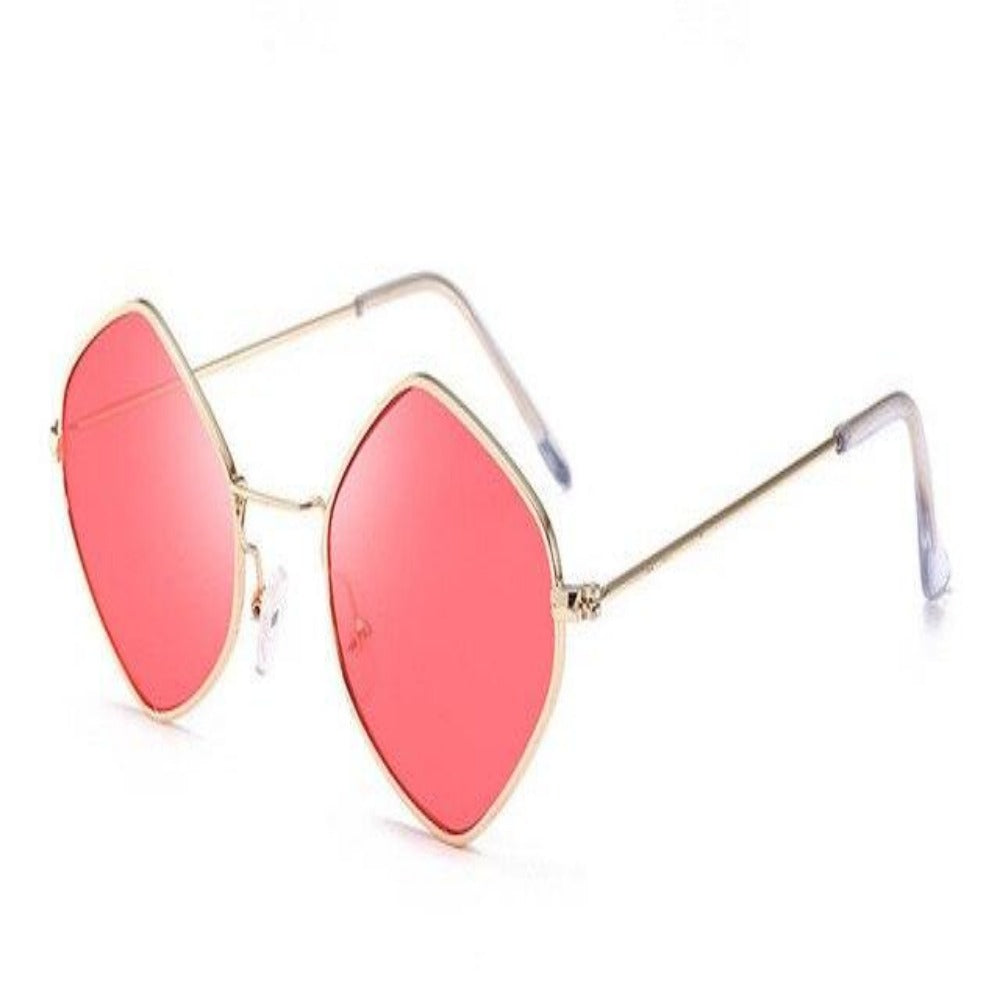 Men & Women's Clear Polygon Sunglasses-Ladies Sunglasses-C5-Red-Product Details: Men & Women's Clear Polygon Vintage Sunglasses Lenses Optical Attribute: Mirror, UV400, Anti-Reflective Frame Material: Alloy Lenses Material: Polycarbonate Dimensions: Lens Width: 53 mm Lens Height: 46 mm-Keyomi-Sook