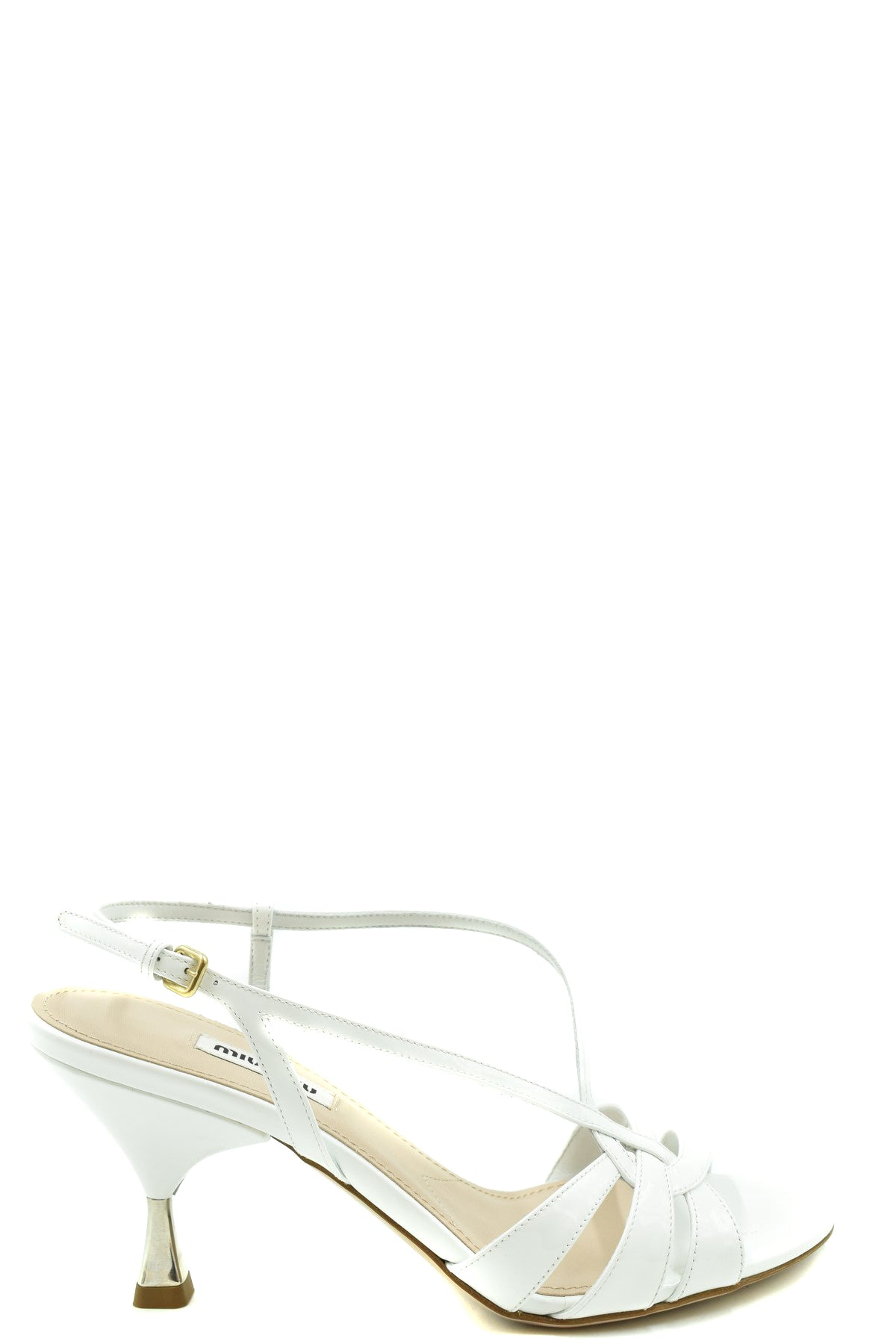 Shoes Miu Miu-Women's Fashion - Women's Shoes - Women's Sandals-35-Product Details Type Of Accessory: ShoesTerms: New With LabelSeason: Spring / SummerMain Color: WhiteMade In: ItalyGender: WomanHeel'S Height: 7,5 CmSize: EuComposition: Dye 100%Year: 2020Manufacturer Part Number: 5X154D 3Asn-Keyomi-Sook
