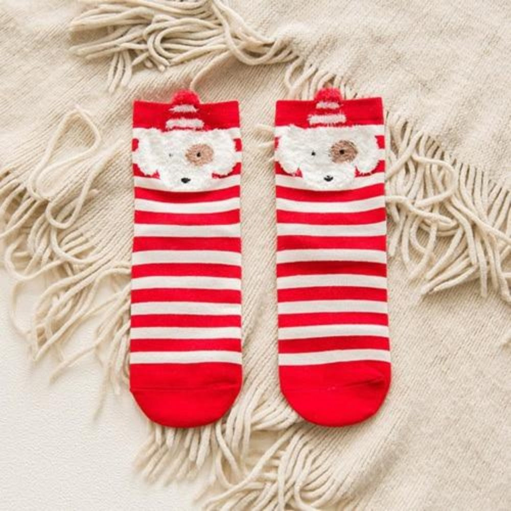 Women'S Cotton Cartoon David'S Deer Christmas Socks-Ladies Socks-clown-Product Details: Women's Cotton Cartoon David's Deer Casual Winter Christmas Socks Package included: 1 Pair Socks One size: EU 36-41-Keyomi-Sook