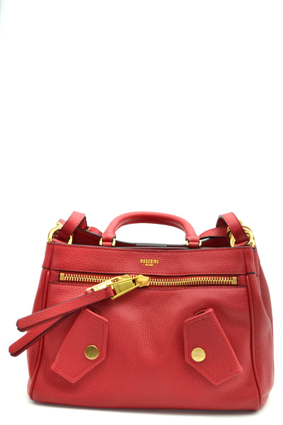 Bag Moschino-Bags - WOMAN-Product Details Type Of Accessory: HandbagSeason: Fall / WinterMade In: ItalyTerms: New With LabelMain Color: RedGender: WomanYear: 2018Manufacturer Part Number: 7A7427 8003 0115Size: IntBag Wxhxd (Cm): 30X20X15Composition: Leather 100%-Keyomi-Sook