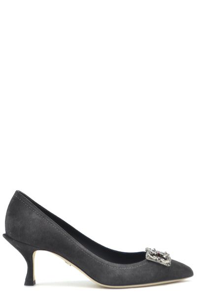 Shoes Dolce & Gabbana-35.5-Product Details Terms: New With LabelMain Color: GrayType Of Accessory: ShoesSeason: Fall / WinterMade In: ItalyGender: WomanHeel'S Height: 6Size: EuComposition: Chamois 100%Year: 2020Manufacturer Part Number: Cd1360 Av301 87138-Keyomi-Sook