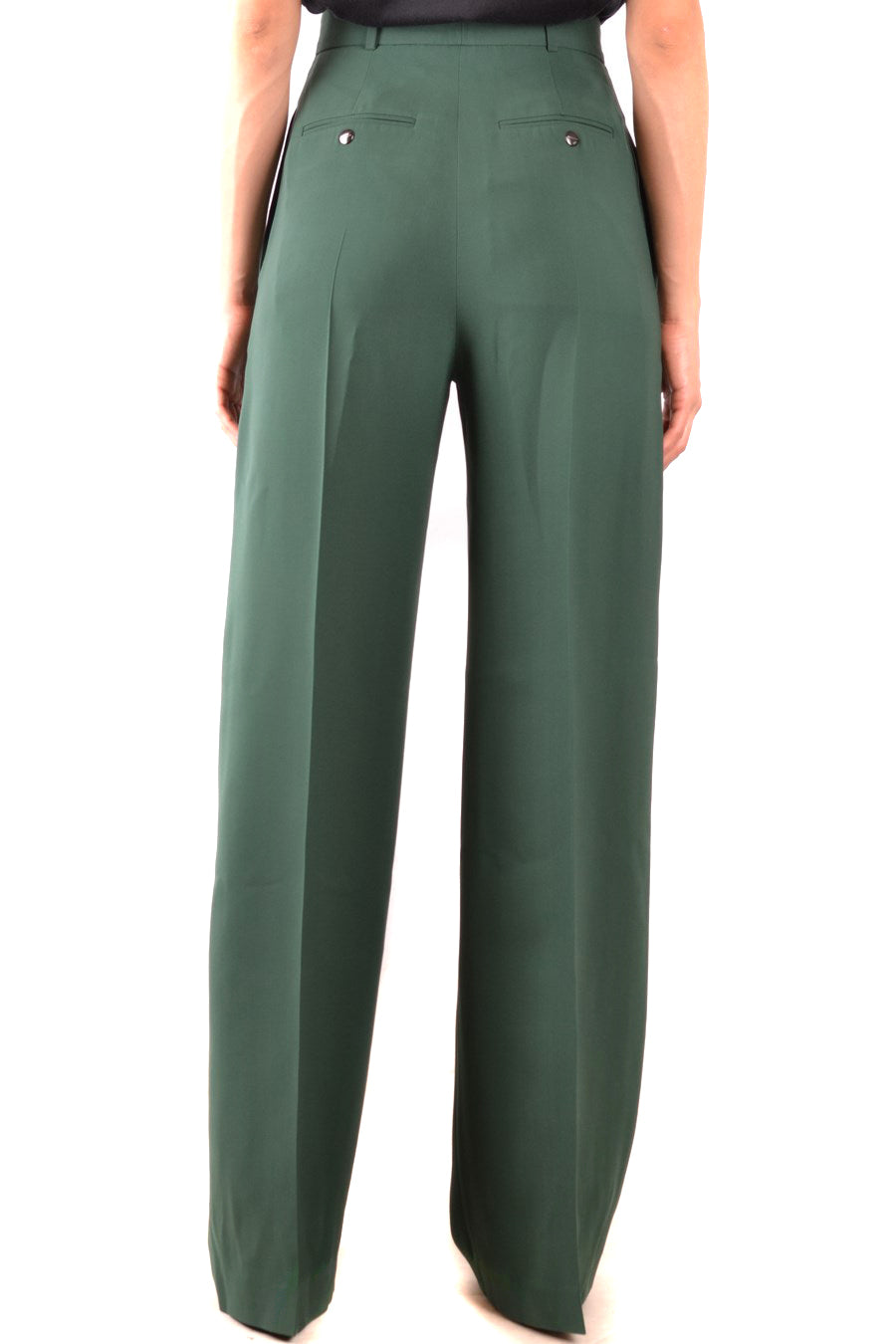 Trousers Burberry-Trousers - WOMAN-Product Details Terms: New With LabelYear: 2018Main Color: GreenGender: WomanMade In: RomaniaManufacturer Part Number: 8001948 A1472Size: ItSeason: Fall / WinterClothing Type: TrousersComposition: Wool 12%, Silk 88%-Keyomi-Sook