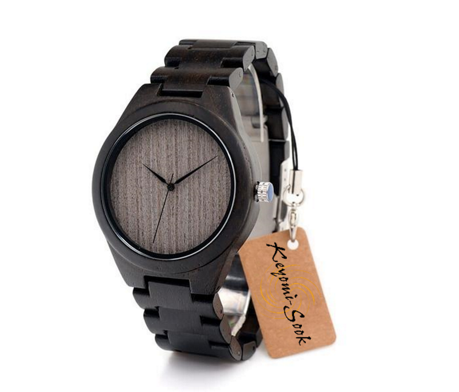 Ebony Colour Wooden Mens Watch-Men's Watch-Without Dial H06-Luxurious Simplicity Quartz Movement Japanese Miyota All New Men's Black Wooden Wristwatch Handmade Green Analog Feature Great Gift For Those That Have Sensitive Skin And Let's Not Forget To Include The Young Adults Who Started The Trend On These Specialty Watches. In Reality No Matter The Age This Item Is A Great Fit. GET YOURS TODAY!! Product Details Item Type: Quartz Wristwatches Case Material: Wooden Case Shape: Round Dial Diameter: